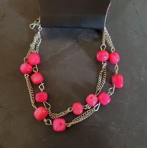 Love On The Rocks - Pink & Silver Bracelet